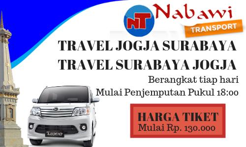 Harga Tiket Travel Jogja Surabaya