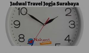 Jadwal travel jogja surabaya Nabawi Transport
