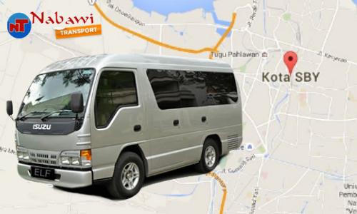 Travel jogja surabaya elf nabawi transport